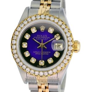 Rolex Lady Datejust Purple Vignette Diamond Watch